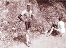 Laurent s'efforce de garder son sang-froid après sa chute à quelques encablures de l'arrivée.